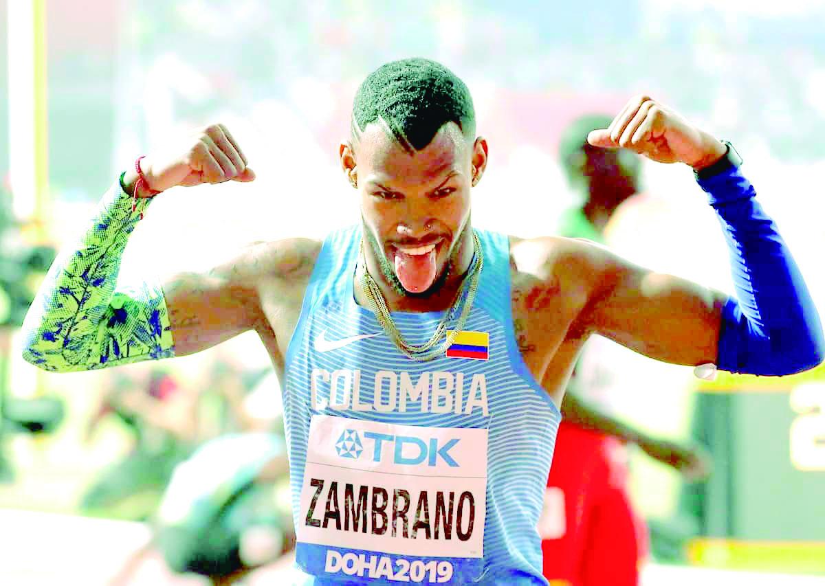 Anthony Zambrano medalla de plata en Mundial de Atletismo | EL FRENTE
