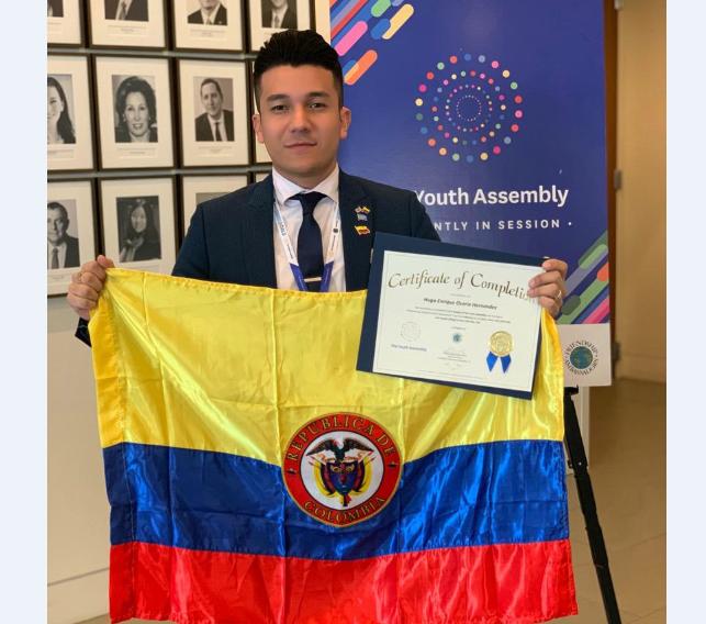 Hugo Osorio: Representante de los jóvenes de Colombia y el mundo   EL FRENTE