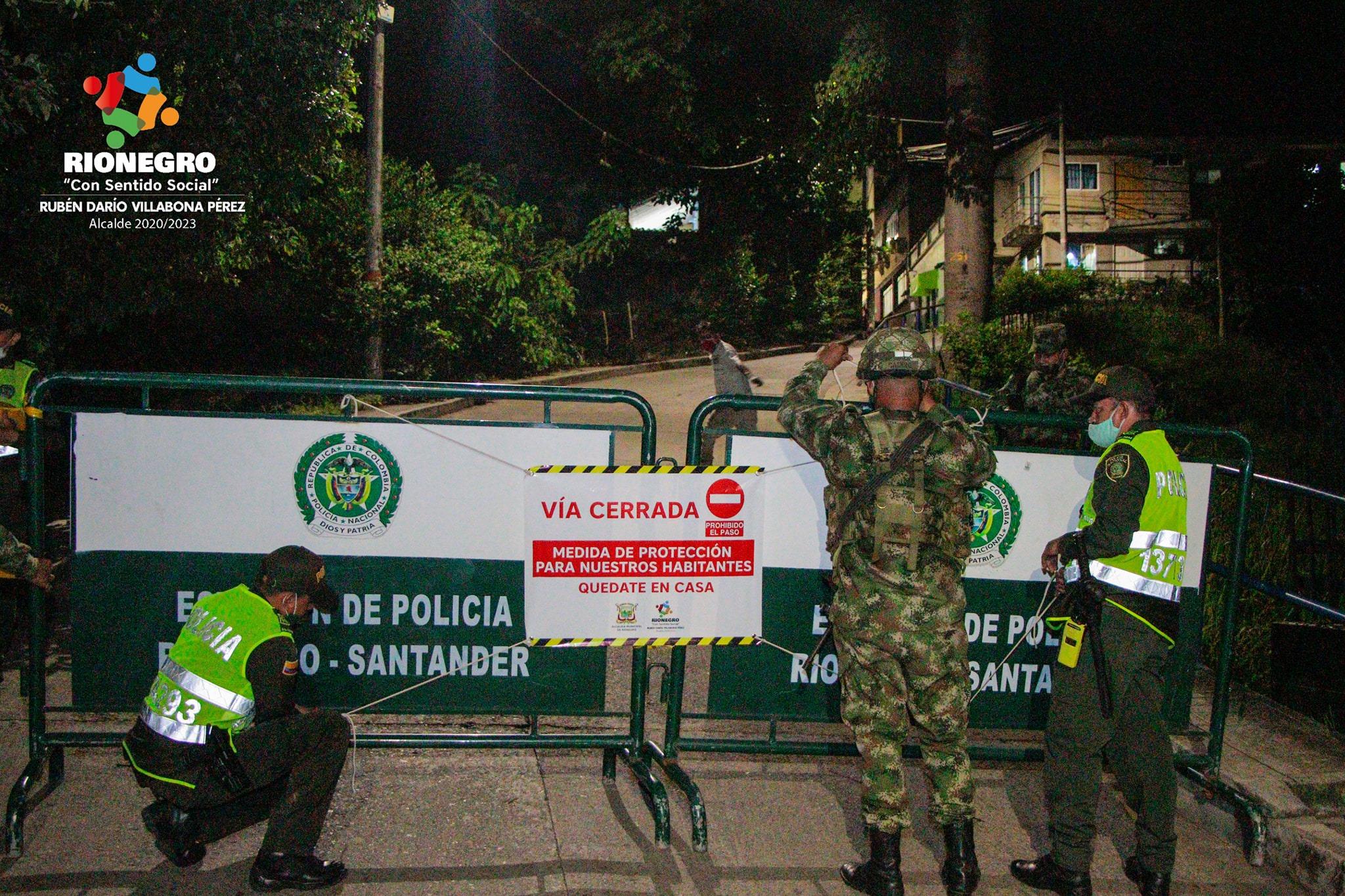 Alcalde de Rionegro ordenó  cerrar las vías de ingreso al municipio | Municipios | Santander | EL FRENTE