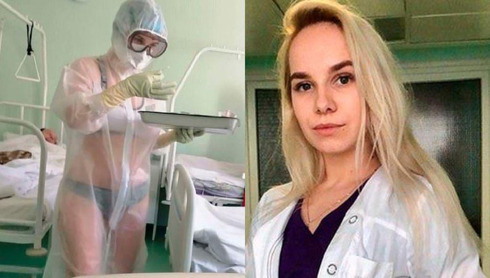 Enfermera atendía a pacientes de coronavirus en ropa interior  | EL FRENTE