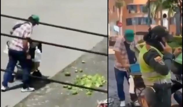 Vendedor tira la fruta para no permitir su decomiso    EL FRENTE