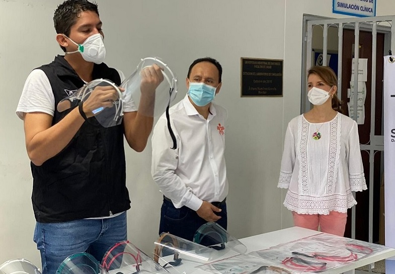 Aticulados Unired, Sena y Tecnoparque. Donan máscaras de protección facial para UIS, UNAB Y UDES | Región | Santander | EL FRENTE