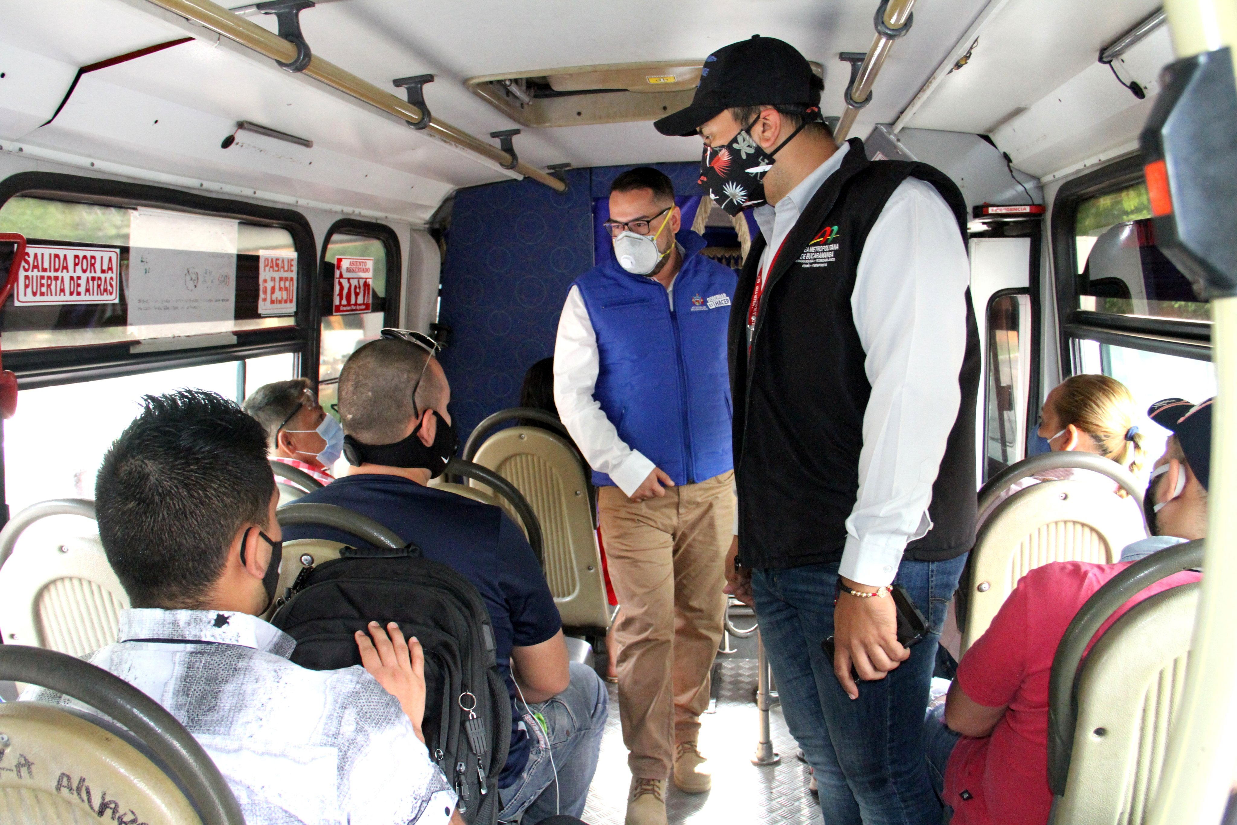 Autoridades insisten con el distanciamiento social en el transporte público | Bucaramanga | Metro | EL FRENTE