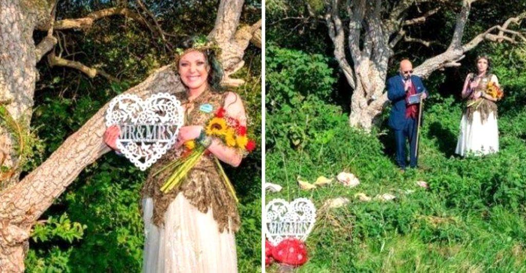 Árbol y mujer celebran primer aniversario de bodas | foto | EL FRENTE