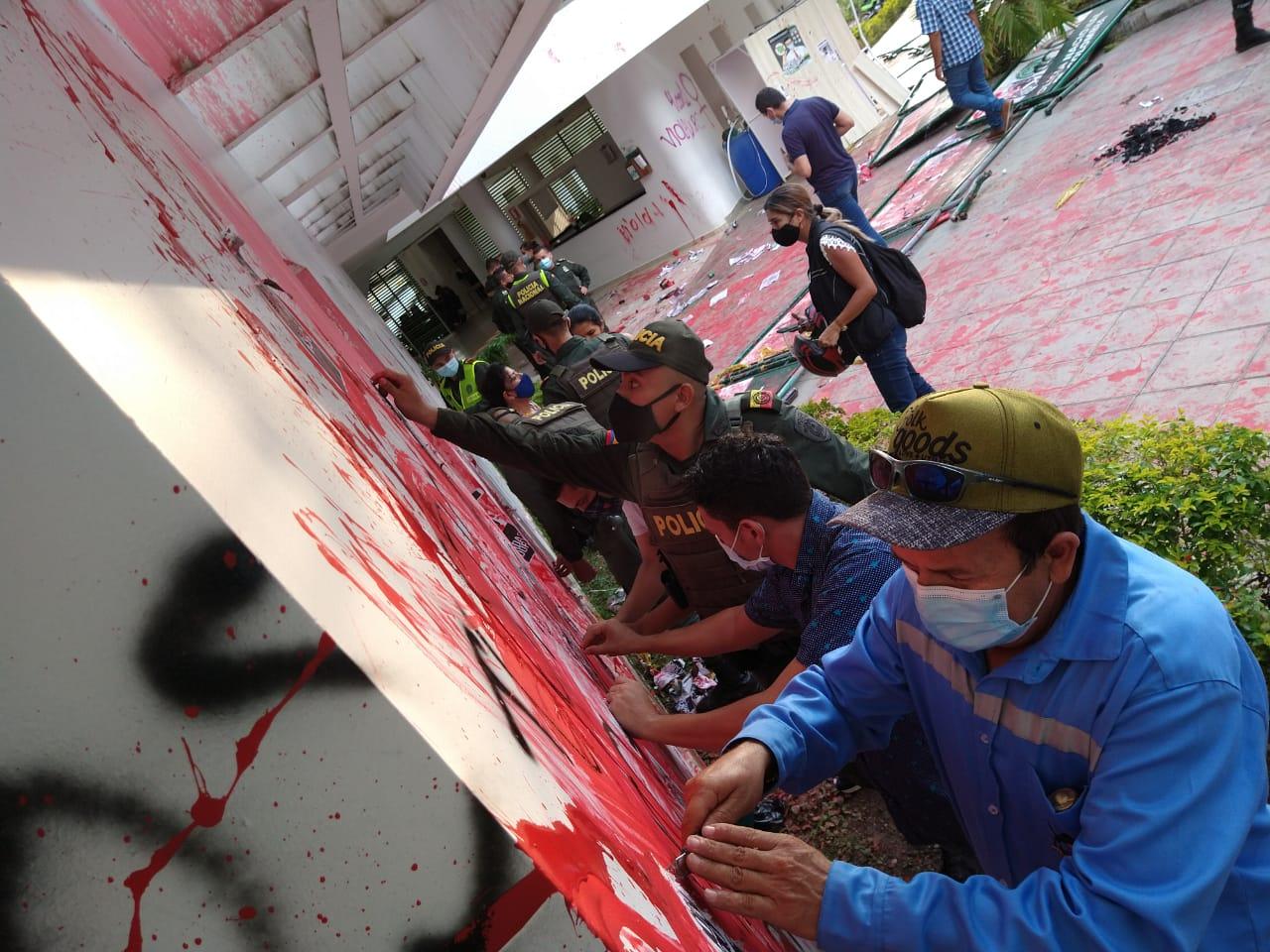 VIDEO. Comunidad de Real de Minas se le rebeló a revoltosos que vandalizaron la Estación   Local   Política   EL FRENTE