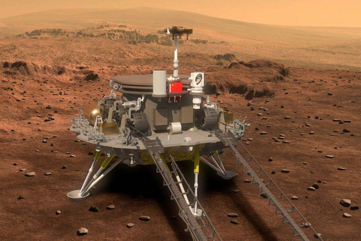 China logra aterrizar la sonda Tianwen--1 en Marte  | foto | EL FRENTE