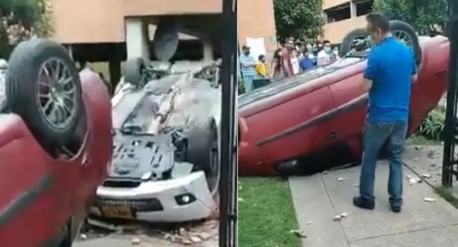Brutal accidente en parqueadero de un conjunto residencial  | EL FRENTE