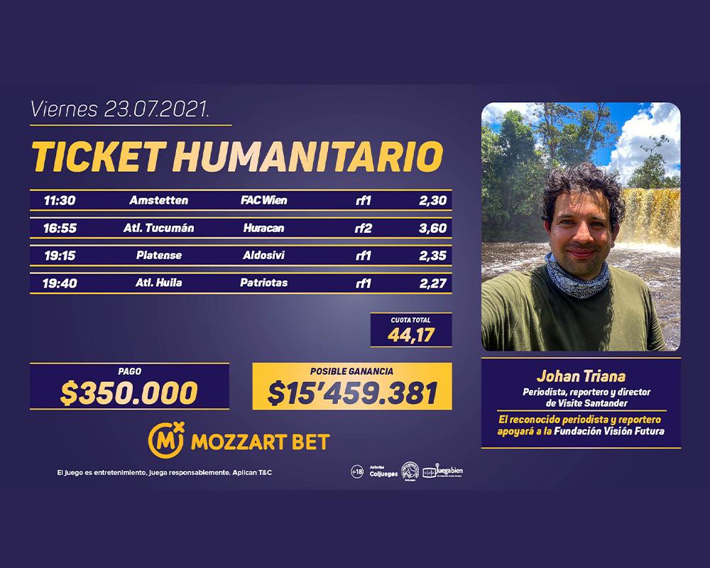 Desde Bucaramanga, un nuevo ticket humanitario de Mozzart Bet  | Metro | EL FRENTE