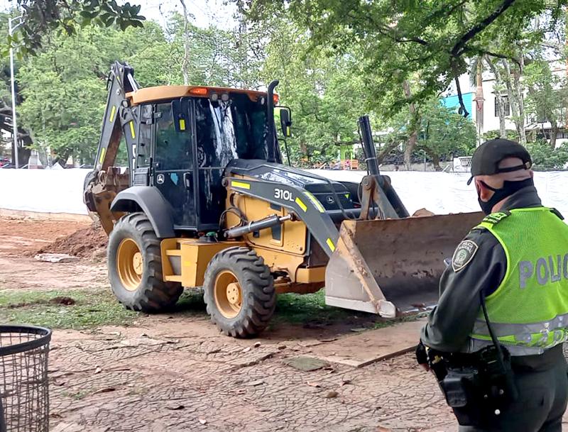 Construcción en el Parque de las Mejoras Públicas no tenía documentación válida | Metro | EL FRENTE