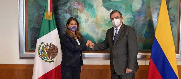 Junta entre cancilleres de México y Colombia. Sellado compromiso para reforzar el dialogo político | EL FRENTE