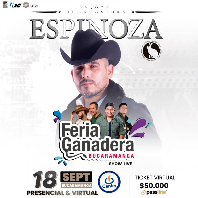 Llega el concierto de Espinoza Paz en Bucaramanga   EL FRENTE