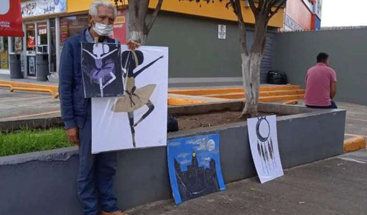 Vende dibujos de sus nietas para darles de comer   foto   EL FRENTE