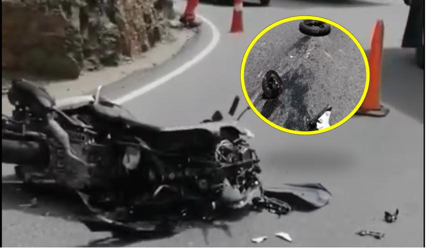 """""""No me mató de milagro"""": motociclista arrollado por un camión en Santander   Local   Justicia   EL FRENTE"""