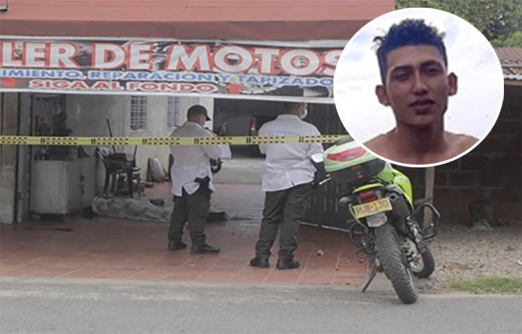 Joven acabó asesinado dentro de un taller de motos que estaba al lado de su casa   Colombia   EL FRENTE
