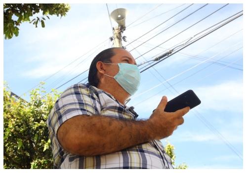Así funciona el sistema de alarma comunitaria del barrio Diamante ll   EL FRENTE