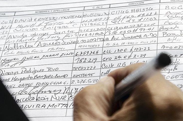 Para la Presidencia, mínimo son 580 mil firmas de respaldo | EL FRENTE